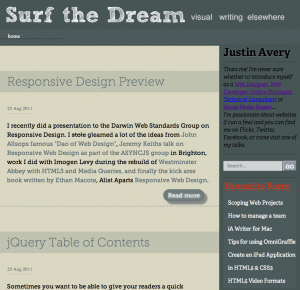 surfthedream responsive ipad landscape
