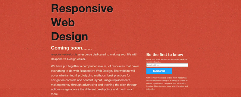 Responsive Web Design Desktop Preview