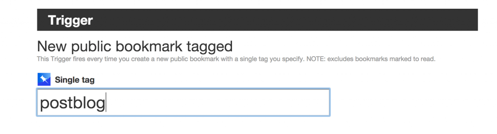 IFTTT Post WordPress Blog Trigger