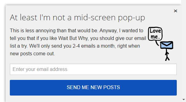Nice popup from wait but why