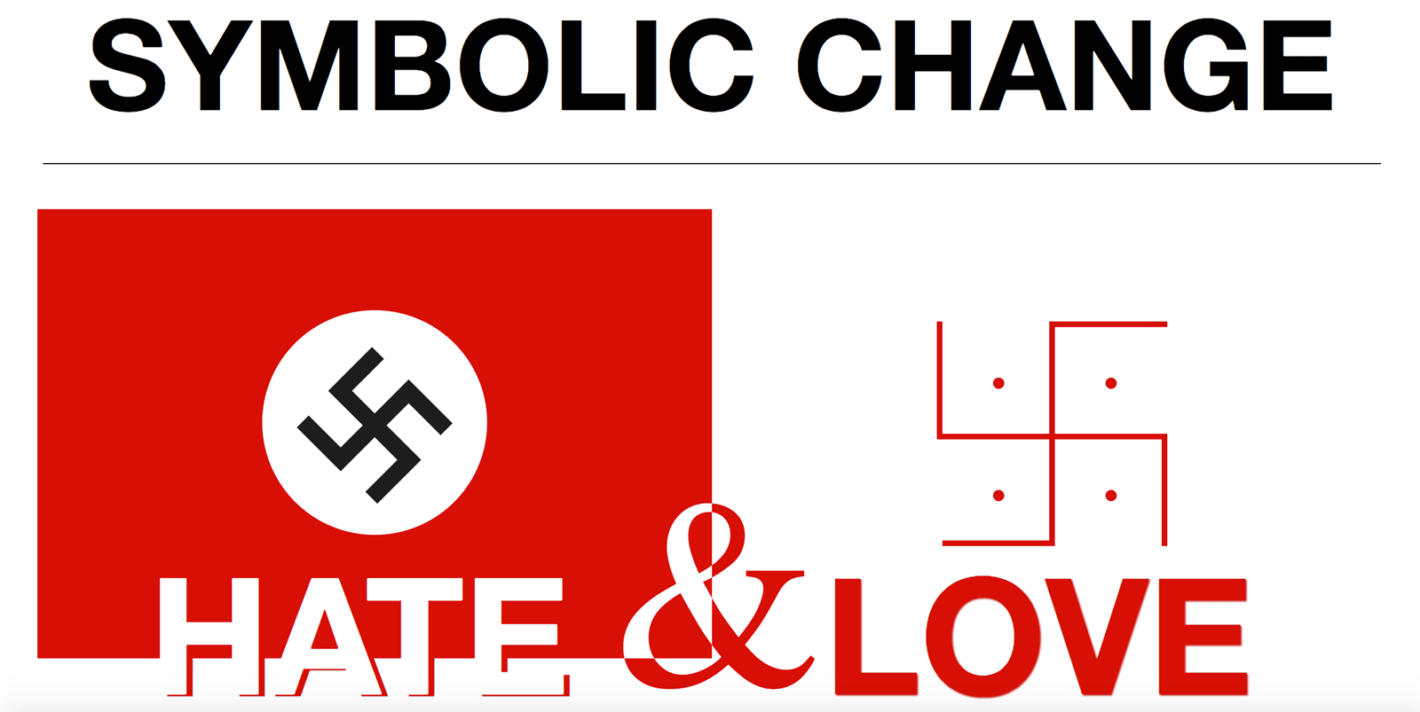 Symbolic change love vs hate surf the dream the book was talking about the different meanings that symbols can take on in different cultures buycottarizona Images