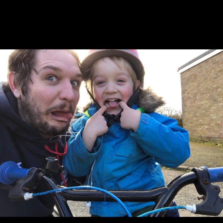 Noah and I posing after a run